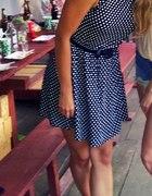 czarna sukieneczka w biale kropki M