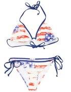 HOUSE strój kąpielowy bikini flaga...
