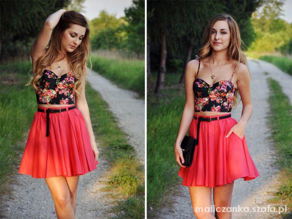 Romantyczne Floral corset