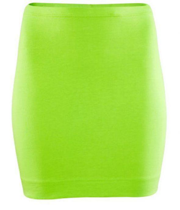 Spódnice H&M limonkowa mini