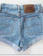 ORGINAL szorty WYSOKI STAN diy XS jeansowe JASNE