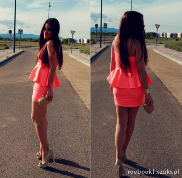 Eleganckie sukienka baskinka