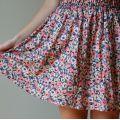 spodniczka w kwiatki H&M