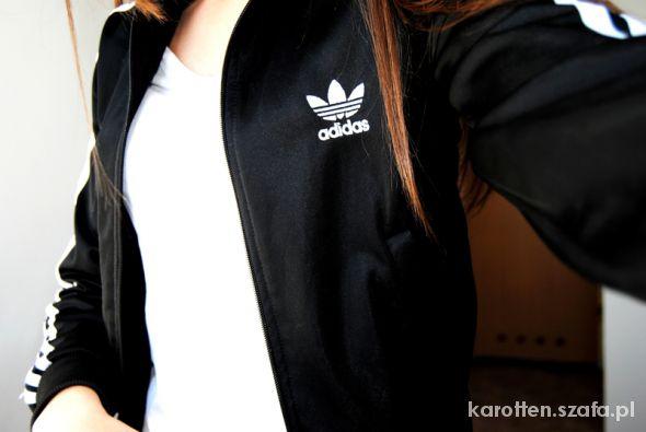 czarna bluza adidas firebird w Bluzy Szafa.pl