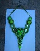 naszyjnik zielony sutasz handmade