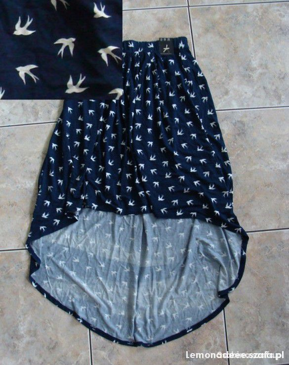 Spódnice NOWA asymetryczna spódnica w jaskółki ATMOSPHERE