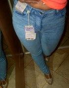 Mega spodnie wysoki stan DENIM nowe rurki