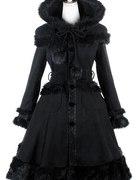 pyon pyon czarny płaszcz lolita gothic RESTYLE