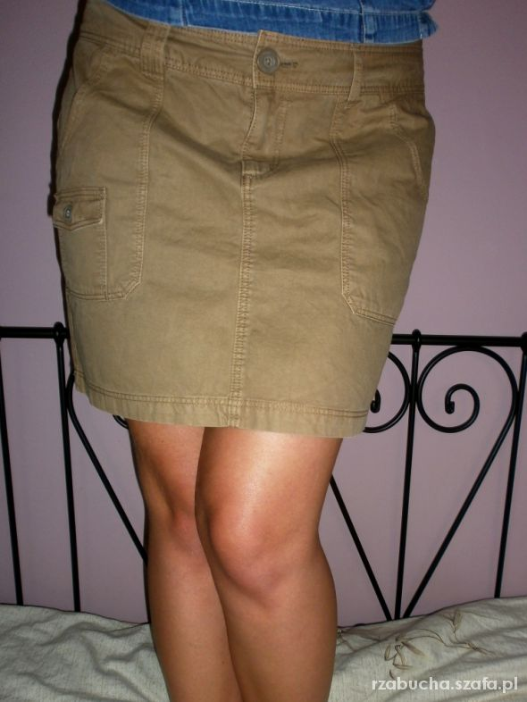 Spódnice Mini spódniczka H&M khaki miód 40 42