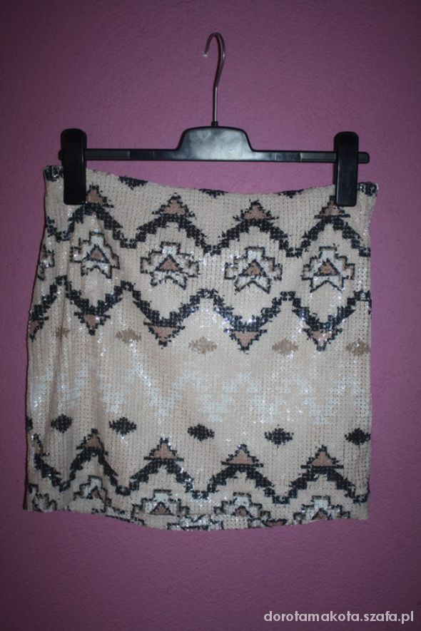 Spódnice Cekinowa spódniczka aztecki wzór