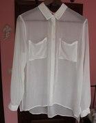 H&M S biała koszula oversize mgiełka MUST HAVE