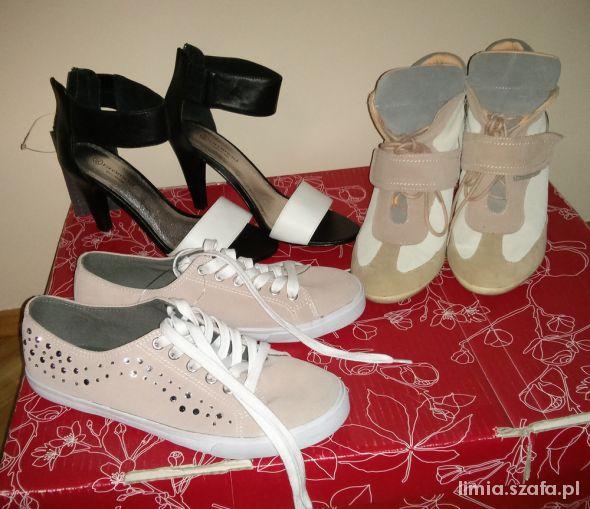 Promod trampki sneakersy sandałki