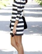 Sukienka black white paski stripes Zara 36