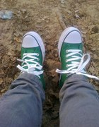 Zielone trampki...
