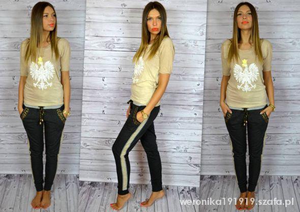Ubrania Eleganckie spodnie dresowe