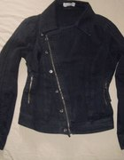 Ramoneska jeansowa na zamek ZIP na skos L