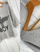 c&a bluzka oversize orzeł boy USA ameryka S M