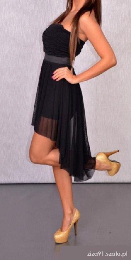 Mój styl asymetryczna czarna moja nowa sukienka