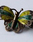 Motyl srebro 800 emalia