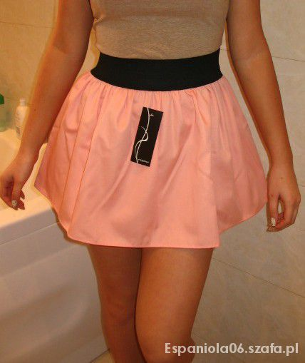 Spódnice Sliczna spódnica rozm M łososiowa