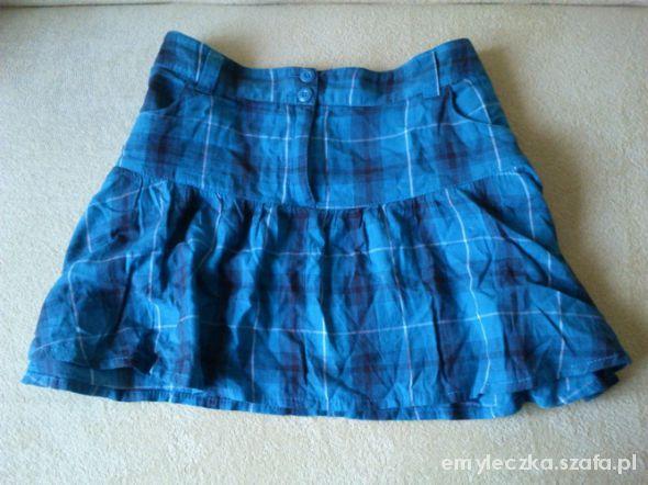 Spódnice niebieska spodniczka w krate H&M