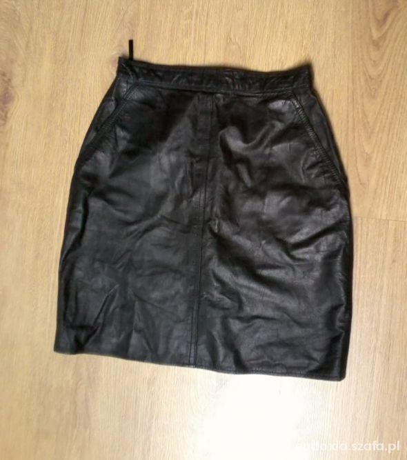 Spódnice mini wysoki stan leather