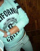 miętowa bluza xs s
