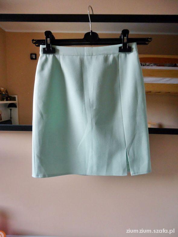 Spódnice miętowa pepitka vintage