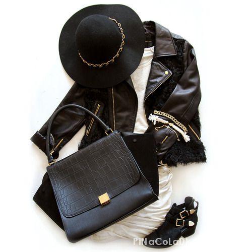 Eleganckie czarno czarna