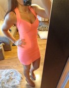 neonowa sukienka morelka