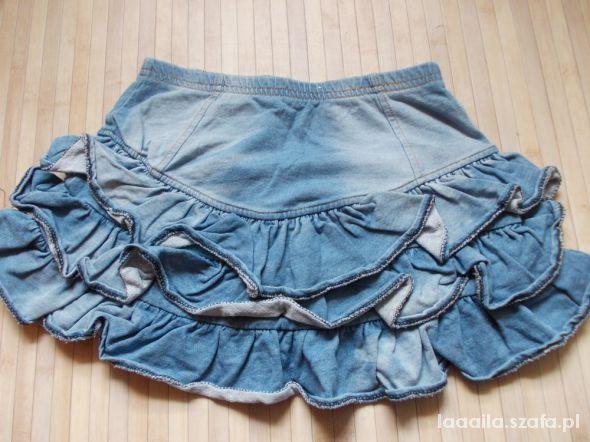 eab97c34 spodniczka mini jeansowa falbanki hm xs w Spódnice - Szafa.pl