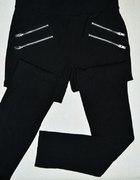 Bershka spodnie zip S M nowe