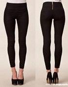 czarne rurki vero moda pieces zip z tyłu
