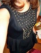 Czarna sukienka z ćwiekami
