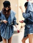 Kurtka płaszcz narzutka jeans jeansowa dżinsowa...