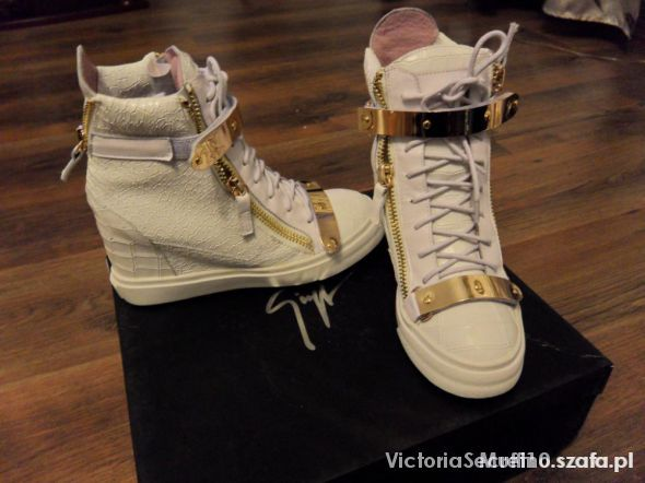 Zanotti sneakersy wedges