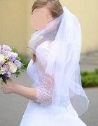 Piękna delikatna suknia z koronkowym bolerkiem...