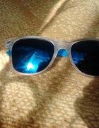 okulary lustrzanki niebieskie