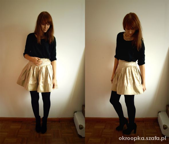 Imprezowe gold skirt