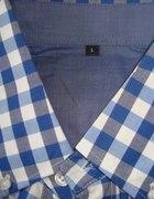 Koszula męska w niebiesko białą kratę