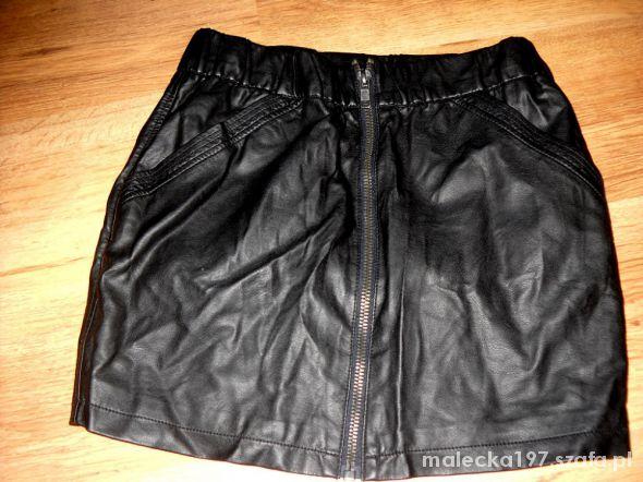 Spódnice Czarna spódnica z eko skóry