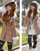 Beżowy lub brązowy płaszcz