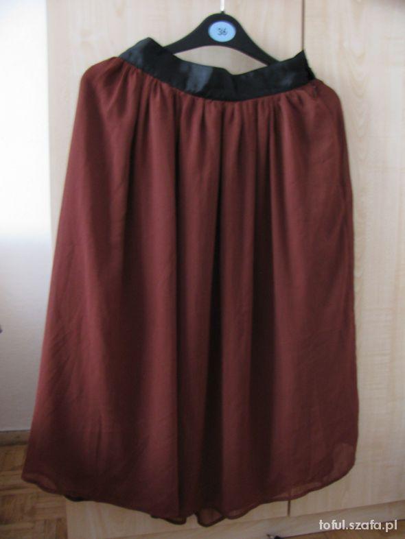 Spódnice brązowa spódnica H&M