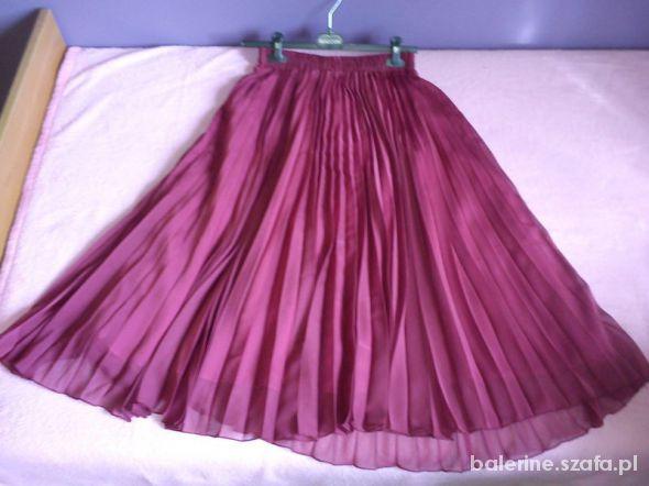 Spódnice Burgundowa spódnica maxi plisowana