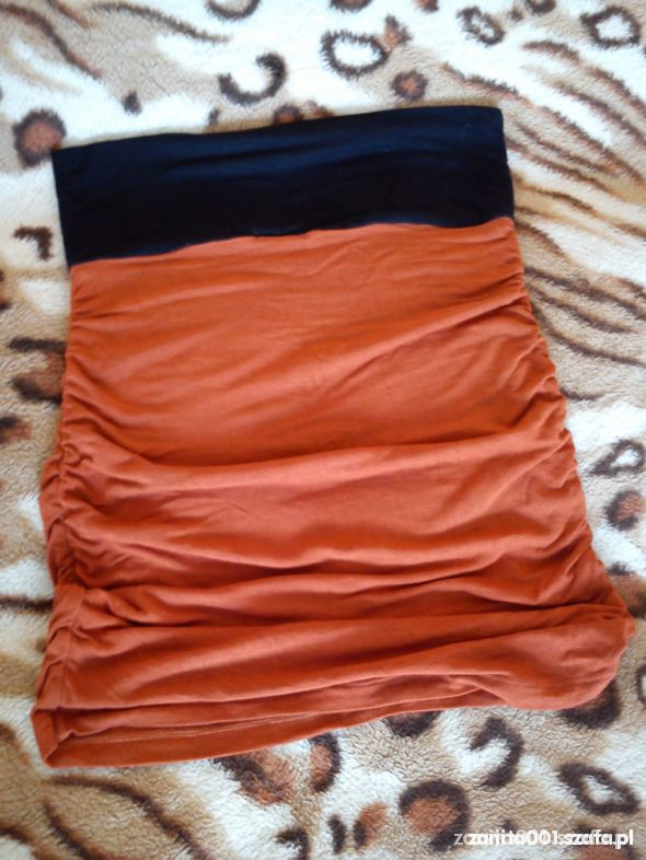 Spódnice Ruda Ceglasta Mini Marszczona bandage