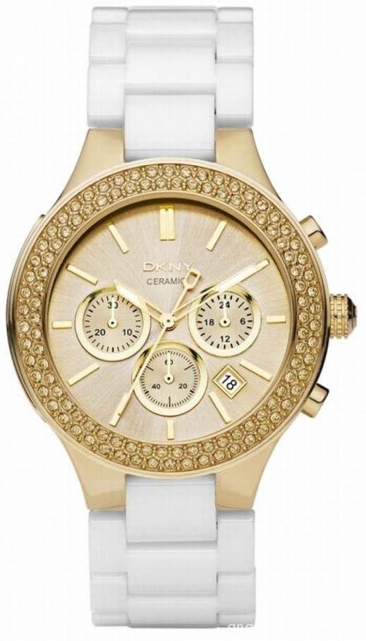 Zegarek DKNY ceramiczny złoty