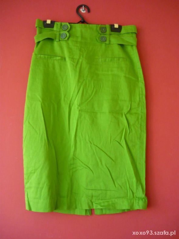 Spódnice zielona ołówkowa spódnica