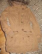 parka camel amisu zimowa kurtka płaszcz