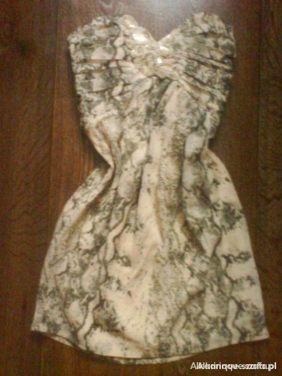 Suknie i sukienki H&M Sukienka z motywem węża