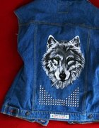 Wilk wolf wilkołak kamizelka ćwieki